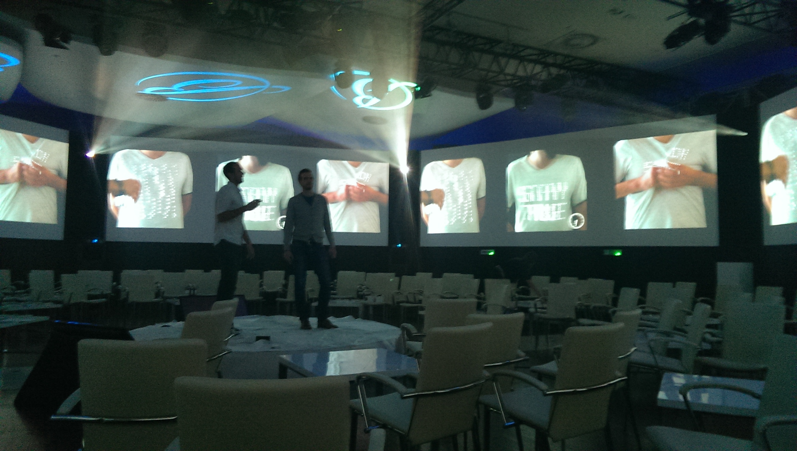 The tshirtOS debut at the Budapest presentation for Ballantine's